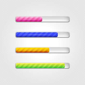 Vector loading bars on grey background - Free vector #131627