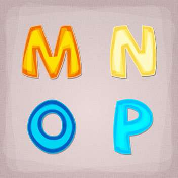 Vector colorful font on grey background - vector #131647 gratis