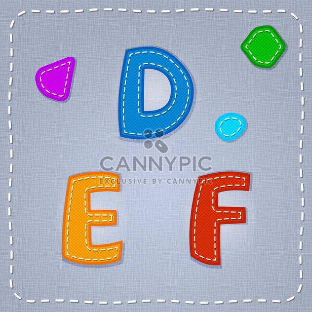Vector colorful font on grey background - Free vector #131667