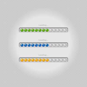 Vector loading bars on grey background - vector #131687 gratis
