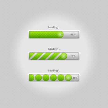 Vector loading bars on grey background - vector gratuit #131697