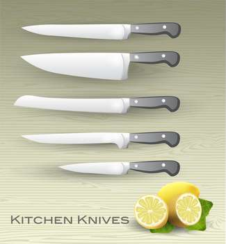 Vector set of kitchen knives - vector gratuit #131707