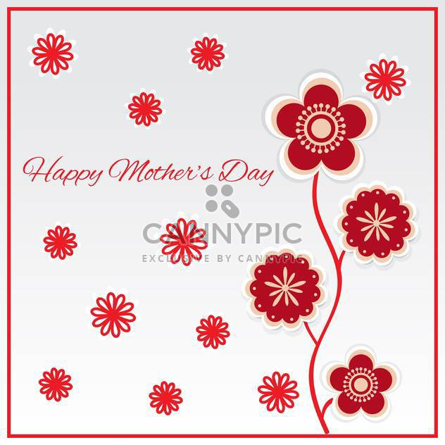 Happy mother day background vector illustration - vector gratuit #131747