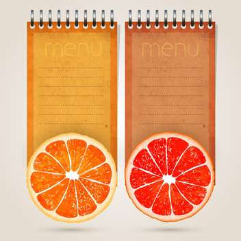 Restaurant menu template for juices and freshes - бесплатный vector #131857