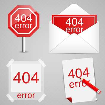 404 error signs vector set - vector gratuit #131907