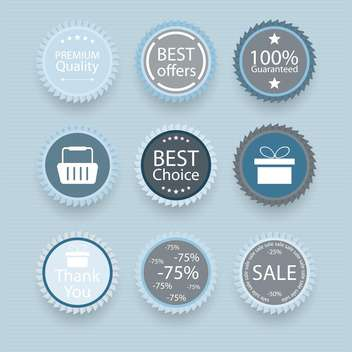 Set of retro vintage badges and labels vector illustration - vector gratuit #131977