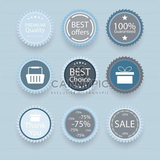 Set of retro vintage badges and labels vector illustration - Free vector #131977