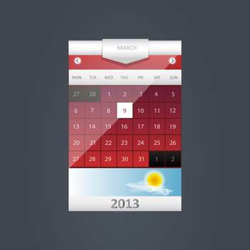 Vector calendar icon on dark grey background - Free vector #131997