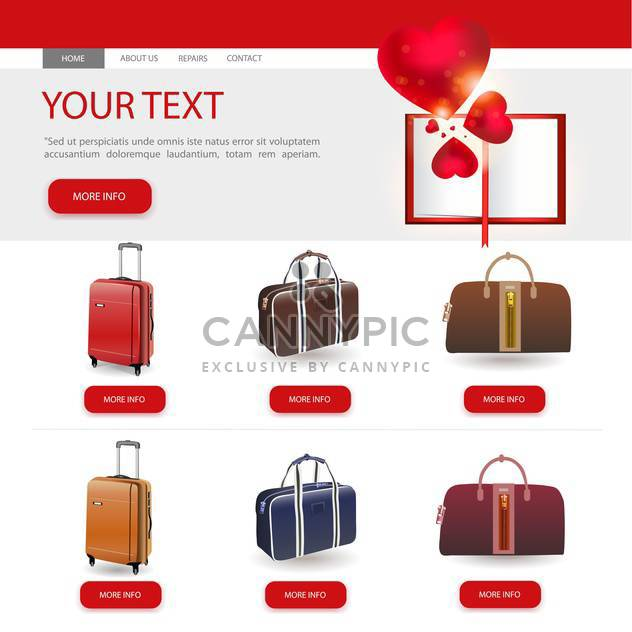 Vector illustration of website design template - Free vector #132057