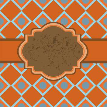 Vintage frame with seamless pattern background - vector gratuit #132077