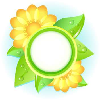 Vector floral frame on white background - Free vector #132087