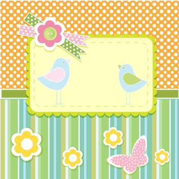 Vector set of cute frames with floral background - Free vector #132097