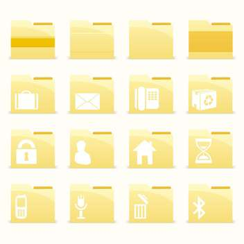 Vector folder icons set on white background - vector gratuit #132167