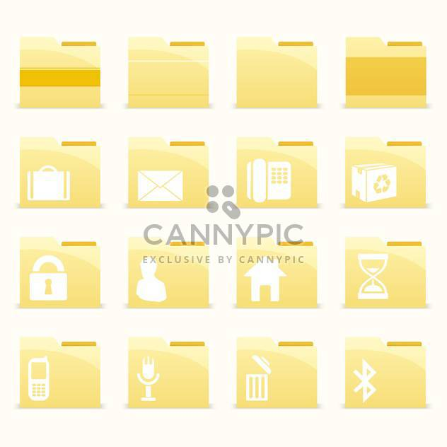 Vector folder icons set on white background - Free vector #132167
