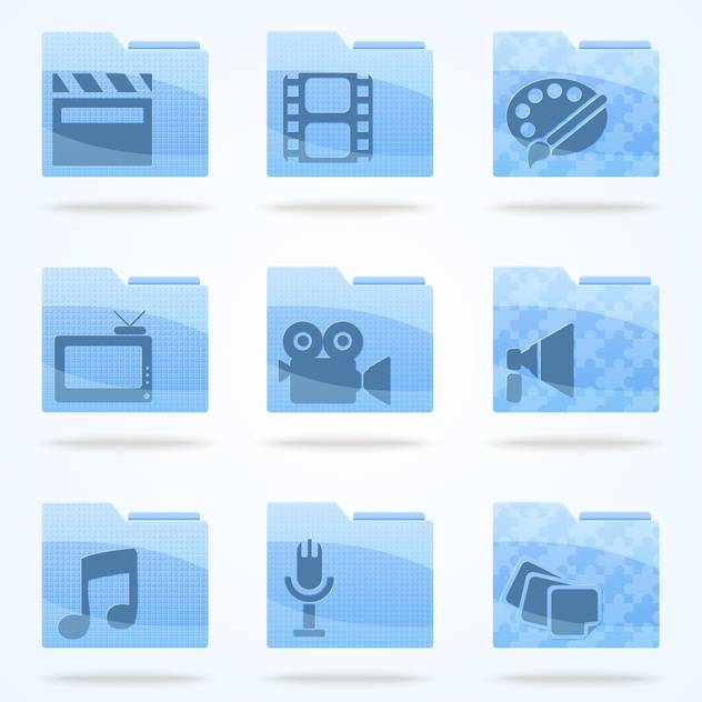 Vector multimedia veb folder icons set - бесплатный vector #132187