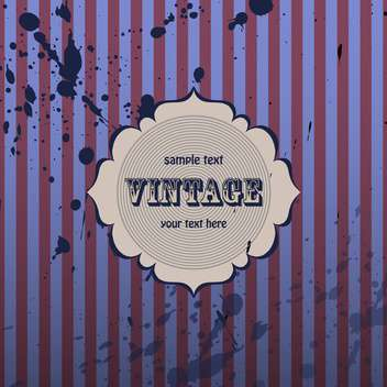 Purple vector vintage background with with stripes and blots - бесплатный vector #132217