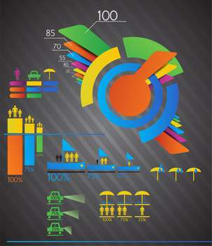 Vector business colorful infographics set,vector illustration - vector #132247 gratis