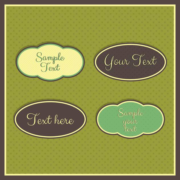 Vintage frames with place for text on green background - vector #132297 gratis
