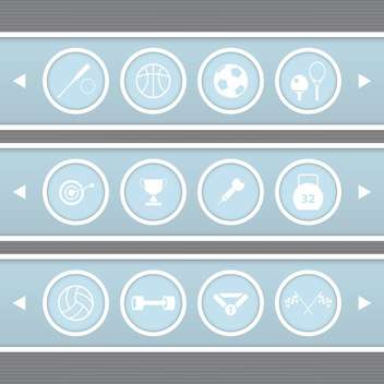 Blue veb circle sports icons,vector illustration - Free vector #132327