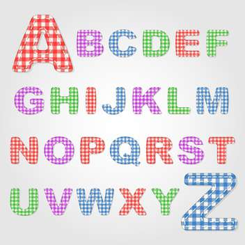 old fashioned colorful alphabet,vector illustration - vector gratuit #132347