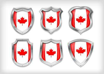 Different icons with canada flags,vector illustration - vector gratuit #132367