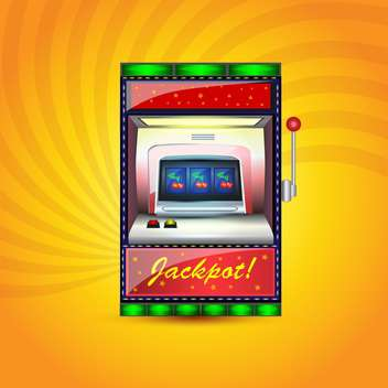 Vector jackpot casino icon on orange background - vector gratuit #132387