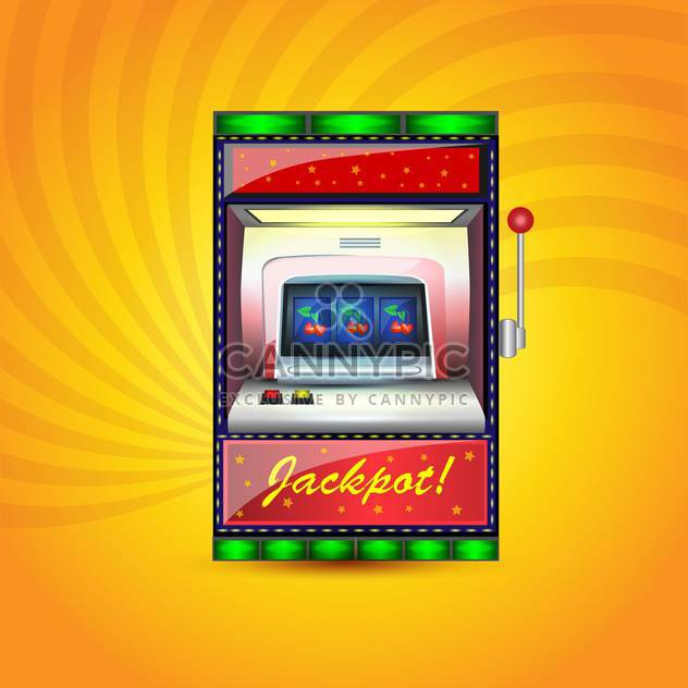 Vector jackpot casino icon on orange background - Free vector #132387