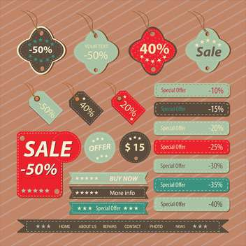 Set of retro vintage badges and labels - vector gratuit #132437