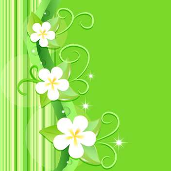 vector summer floral background - vector #132487 gratis