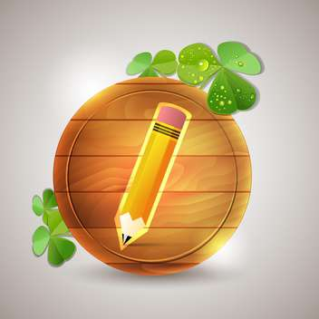 pencil on wooden board icon - бесплатный vector #132507