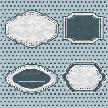 vintage frames set vector background - Free vector #132527