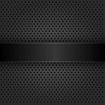 black abstract grid metal texture - vector gratuit #132537