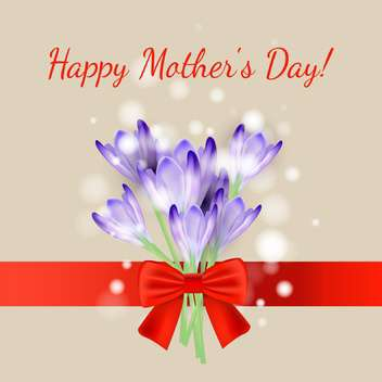 happy mother's day vector card - vector #132547 gratis