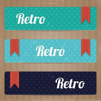 set of retro tags background - Free vector #132617
