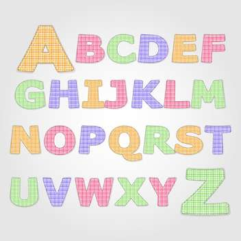 education alphabet vector letters set - vector gratuit #132697