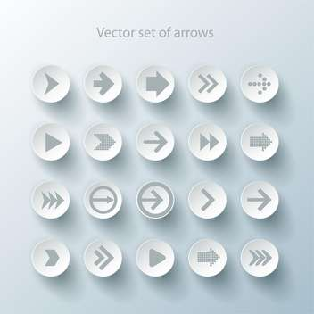arrow sign web icons set - Free vector #132717