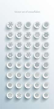snowflakes vector icons set - Free vector #132727