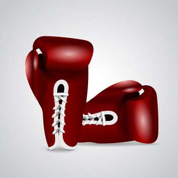pair of glossy boxing gloves - vector #132777 gratis