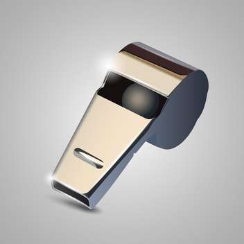 metal whistle vector illustration - бесплатный vector #132807