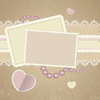 square cards on romantic background - vector gratuit #132837