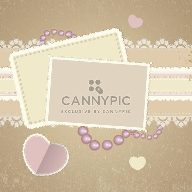 square cards on romantic background - Free vector #132837