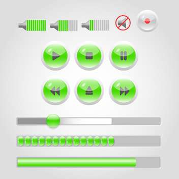 media player buttons collection - бесплатный vector #132847