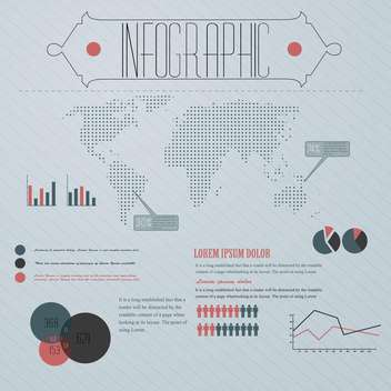 business infographic with world map vector illustration - vector #132867 gratis