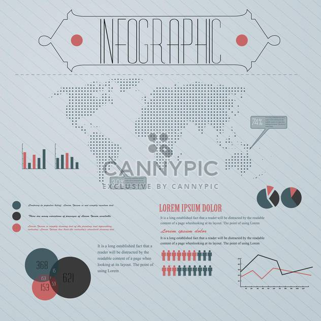 business infographic with world map vector illustration - Free vector #132867