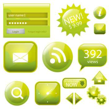 web site vector icons set - Free vector #132907