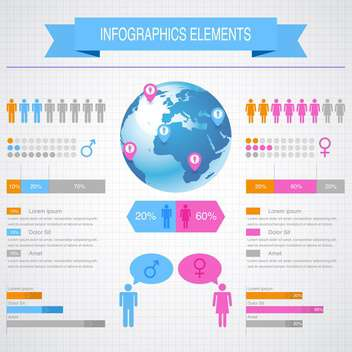 business infographic elements set - vector #132977 gratis