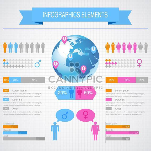 business infographic elements set - бесплатный vector #132977