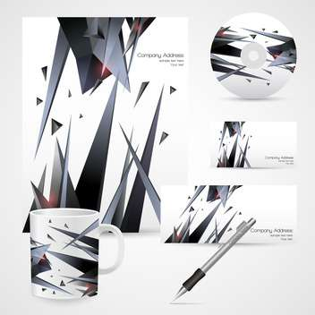 corporate identity templates background - vector gratuit #132987