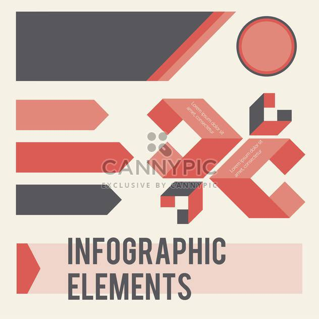 infographic elements vector illustration - Free vector #133007