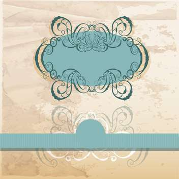 vector vintage ornate frame - vector #133027 gratis
